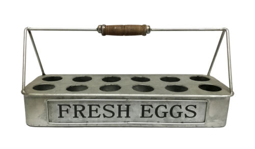 Fresh Eggs Carrier Galvanized Metal