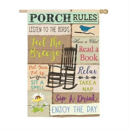 Porch Rules House Flag