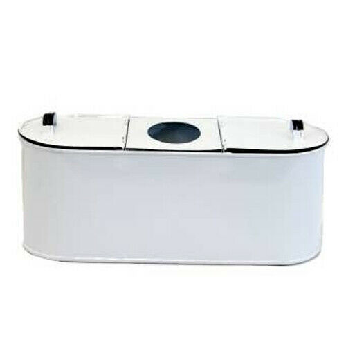 Tissue & Toilet Paper Holder White Enamel Metal