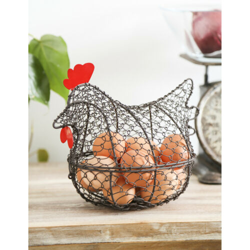 Chicken Basket Metal Wire Hen