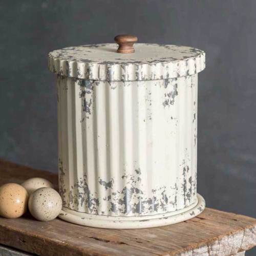 Corrugated Metal Canister