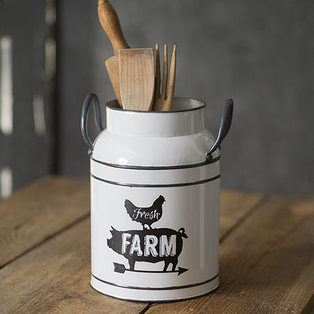 Farm Fresh Jug Rooster Pig Arrow
