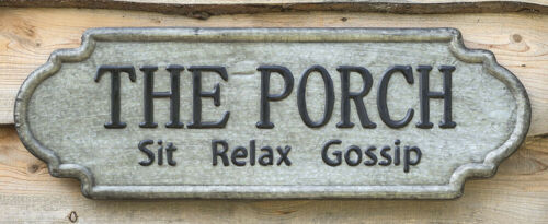 Porch Embossed Metal Sign 36""