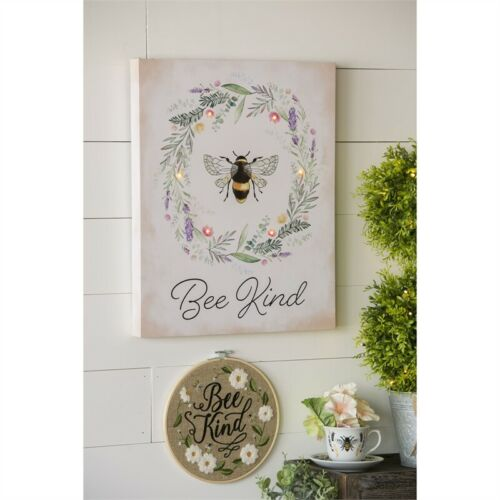 Bee Kind Wall Canvas LED Light