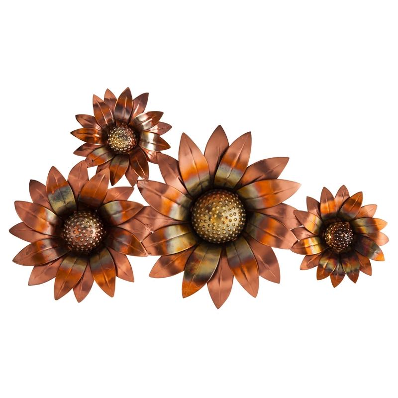 Sunflowers Metal Wall Art Sculpture Outdoor Safe - $60.00 ...