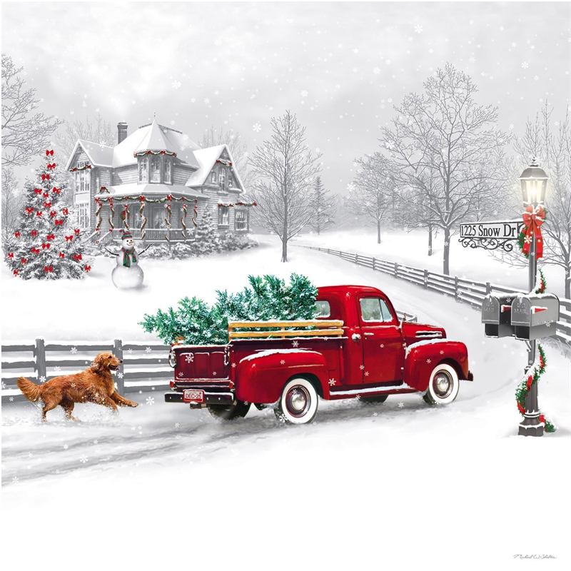 Farm Truck Christmas Led Canvas 34 00 Farmhouse Home Decor Furniture Gifts Enchanted Farmhouse For Home Decor