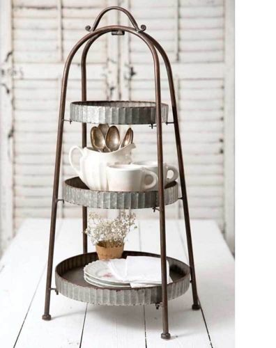 3 Tier Corrugated Round Tray Stand