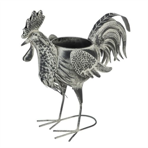 Metal Rooster Planter Outdoor Safe