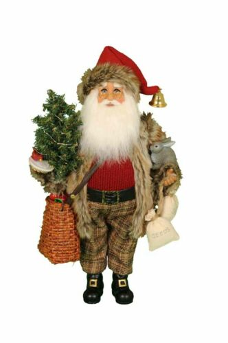 Santa Claus Figurine with Lighted Tree