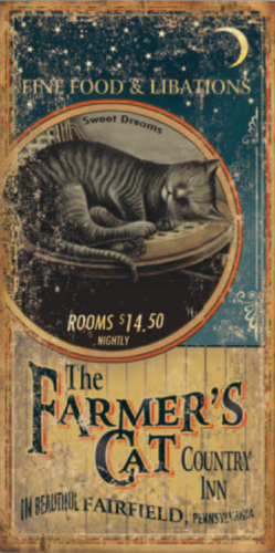 Farmers Cat Country Inn Sign
