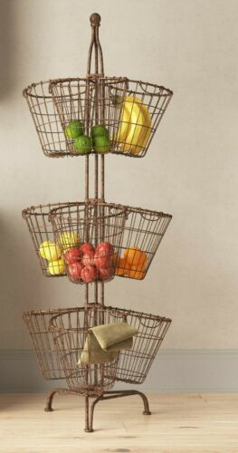 3 Tier Organizer Stand 9 Metal Baskets