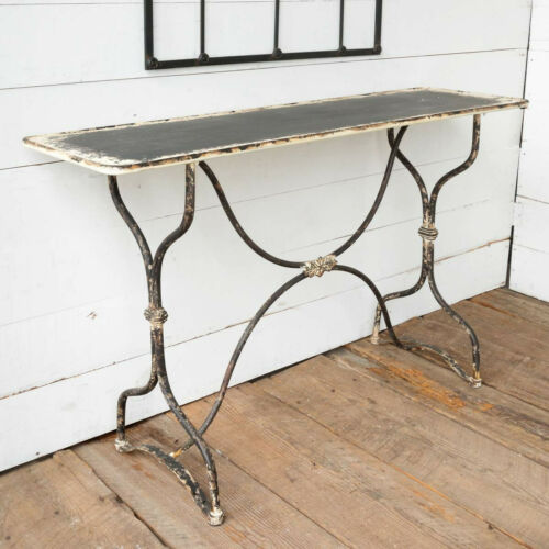 "Distressed Metal Table 55"" Hall Sofa Console"