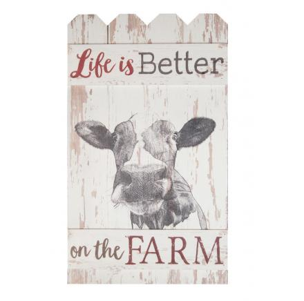 Life On The Farm Cow Plaque