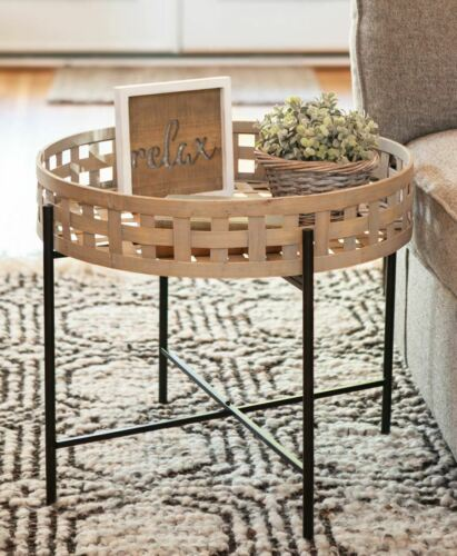 Basket Weave Round Table