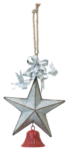 Large Barn Star & Bell Ornament