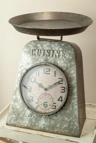 Kitchen Distressed Scale Clock