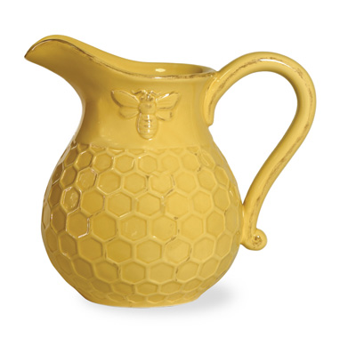 Honey Bee Ceramic Pitcher