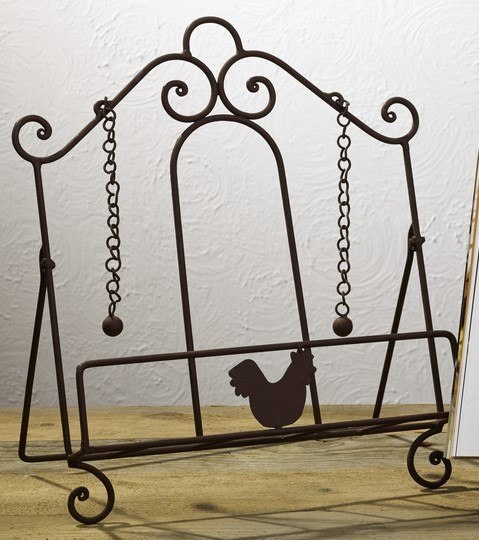 Rooster Cookbook Holder Stand Weights