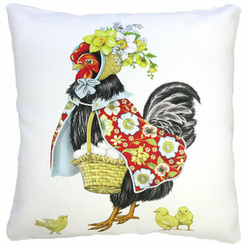 "Mother Hen Pillow 18"" Outdoor Safe"