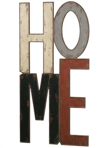 "HOME Wall Sign Distressed 47"" Tall"