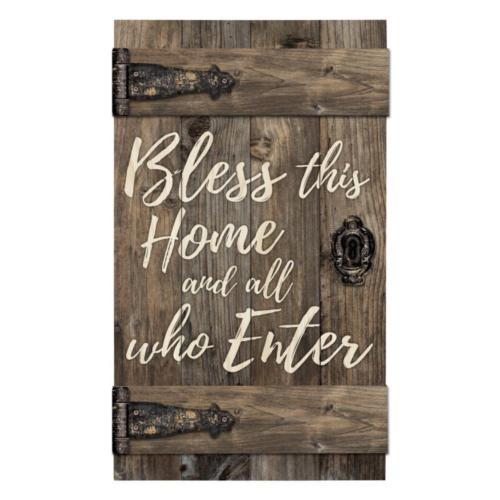 Bless This Home Barn Door Sign 24""