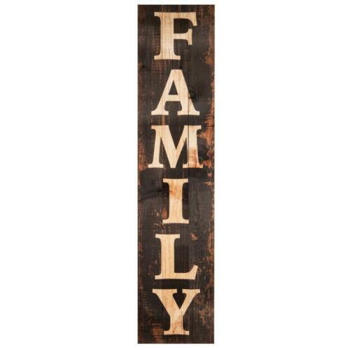 "FAMILY Wall Sign 47"" Distressed Wood"