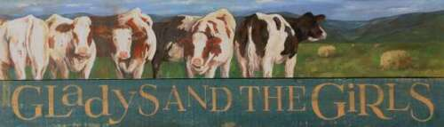 "Cow Wood Wall Sign Farm 31.5"" USA Made"