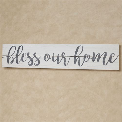 Bless Our Home Slat Wood Sign