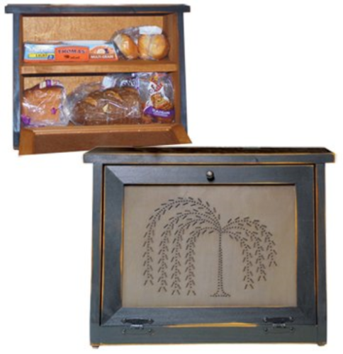 Bread Box with Shelf Willow Tree