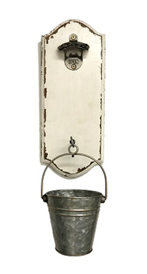 Bottle Opener with Galvanized Bucket