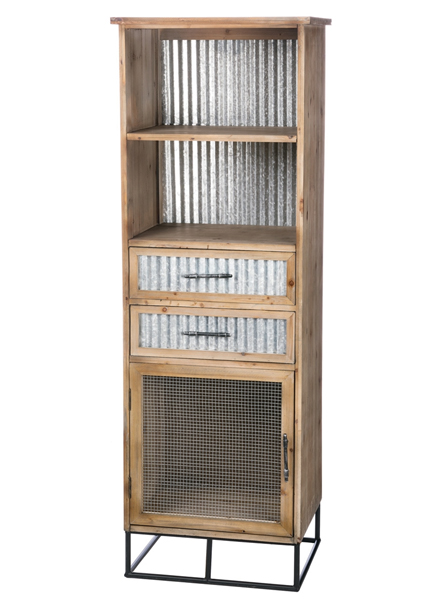Cabinet Shelves Corrugated Tin Drawers