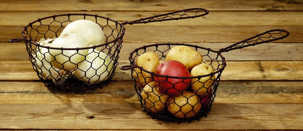 Chicken Wire Fry Baskets Set of 2
