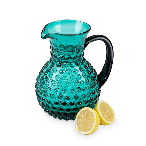 Glass Hobnail Pitcher 64 oz