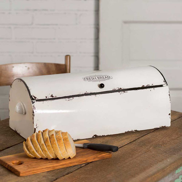 Metal Bread Box Vintage Distressed
