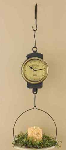 Hanging Metal Scale Clock