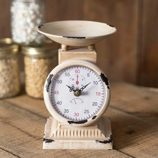 Kitchen Scale Clock 8""